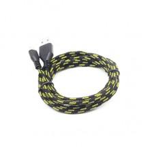 Плетеный Micro USB кабель (черный)