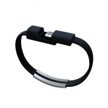 Микро USB  кабель в виде браслета XC1029  (черный)