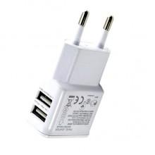 Зарядное устройство CH128-2A с двумя USB портами  (белый)