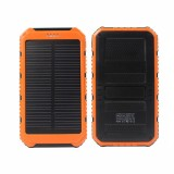 Портативный аккумулятор с солнечной батареей 6000 мАч 2в1 (оранжевый)