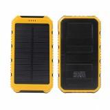 Портативный аккумулятор с солнечной батареей 6000 мАч 2в1 (желтый)
