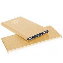 Ультратонкий портативный аккумулятор 6000mAh (золотой)