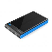 Портативный аккумулятор с солнечной батареей 8000 мАч  (синий)