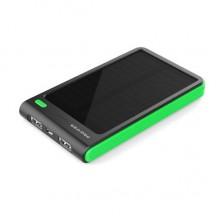 Портативный аккумулятор с солнечной батареей 8000 мАч  (зеленый)